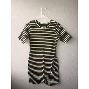 Hunter Green striped dress